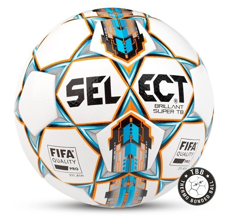 Select Brilliant Super Fodbold - Hvid & Blå