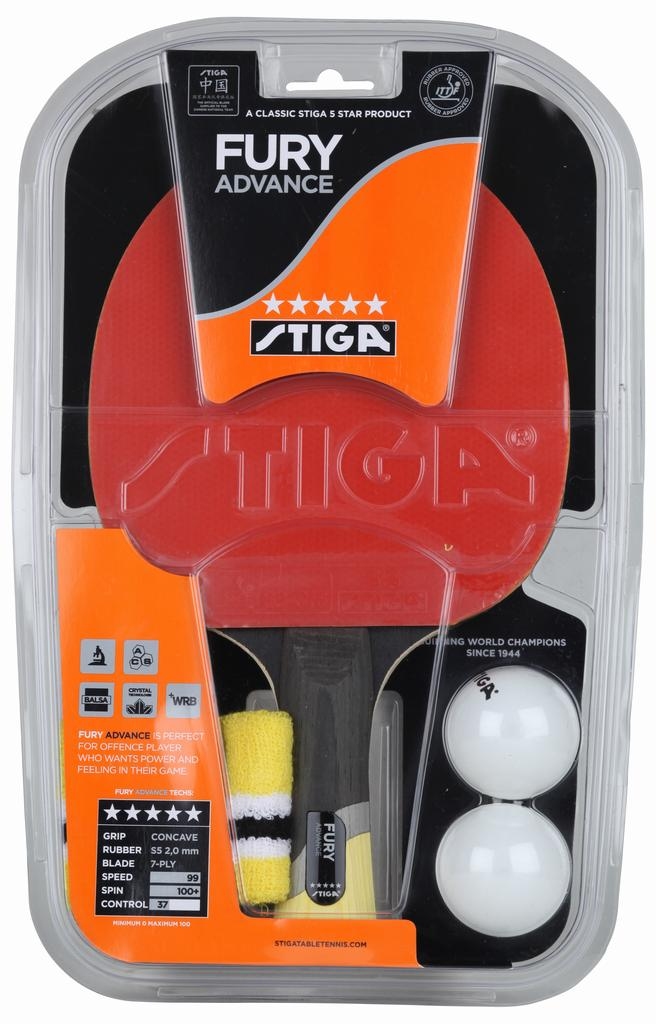 STIGA Fury Advance 5* Bordtennisbat
