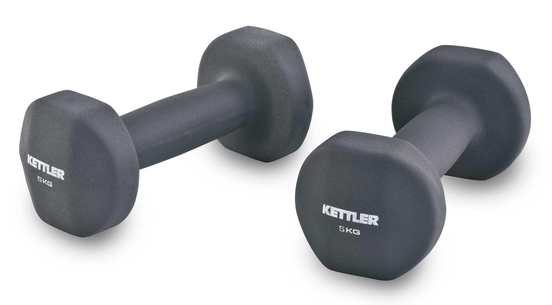 Kettler neopren håndvægte 2x5 kg fra Kettler på billigsport24