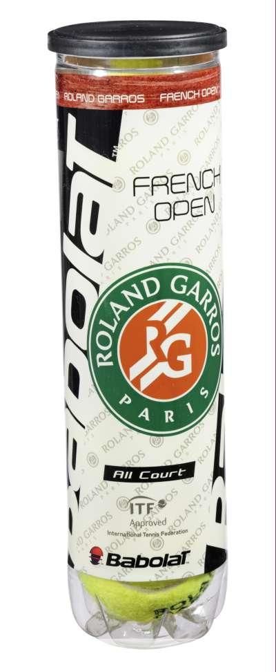 Babolat Roland Garros Tennisbolde 4 stk.